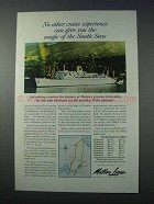 1963 Matson Lines Cruise Ad - Magic of South Seas