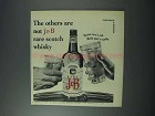 1963 J&B Scotch Ad - The Others Are Not Rare