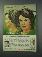 1963 Clairol Loving Care Ad - Color Only The Gray