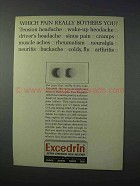 1963 Excedrin Medicine Ad - Which Pain Bothers You?