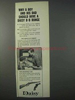 1963 Daisy 1894 BB Gun Ad - Boy and Dad Have BB Range