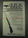 1963 Anschutz Deluxe Sporting Rifle Ad - Steal Show