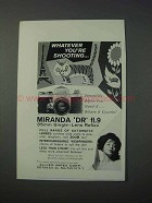 1963 Miranda DR Camera Ad - Whatever You're Shooting