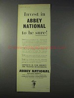 1959 Abbey National Building Society Ad - Invest In