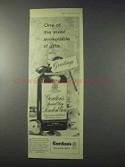1959 Gordon's Gin Ad - One of the Most Acceptable Gifts