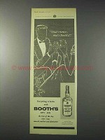 1959 Booth's Dry Gin Ad - That's Better