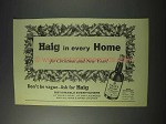 1959 Haig Scotch Ad - For Christmas and New Year