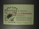 1959 The Yorkshire Insurance Ad - Dorsetshire