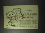 1959 The Yorkshire Insurance Ad - Durham