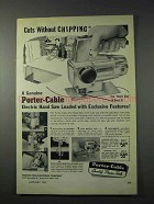 1959 Porter-Cable 152 Hand Saw Ad - Without Chipping
