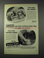 1959 Porter-Cable Belt Sander, Finishing Sander Ad