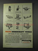 1959 Rockwell Delta Homecraft Tools Ad - Your Skill
