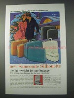 1959 Samsonite Silhouette Luggage Ad - Travel Gifts