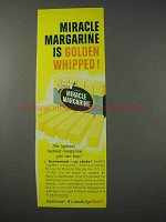 1959 Kraft Miracle Margarine Ad - Golden Whipped