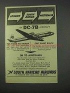1959 South African Airways Ad - London South Africa