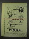 1959 Pimms Drink Ad - Tycoons Buffoons Racy Types