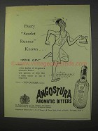1959 Angostura Aromatic Bitters Ad - Scarlet Runner