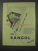 1959 Kangol Aerocap Cap Ad - From The Summer Angle