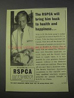 1959 RSPCA Clinics Ad - Back to Health and Happiness