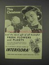 1959 Interflora Florist Ad - This Christmas