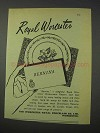 1959 Royal Worcester Bernina Dinnerware Ad