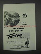 1959 Tucson Arizona Ad - Winter is Only a Word