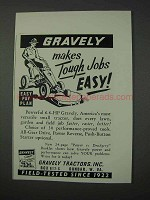 1959 Gravely Tractor Ad - Tough Jobs Easy!