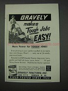 1959 Gravely Tractor Ad - Makes Tough Jobs Easy!