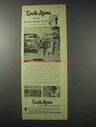 1958 South Africa Tourism Ad - Best Holiday of All