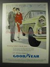 1958 Goodyear 3-T Nylon Tyres Ad - Gracing Finest Cars