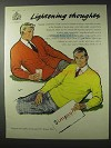 1958 Simpson Sweaters Ad - Lightening Thoughts