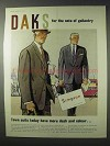 1958 Daks Town Suits Ad - The Note of Gallantry