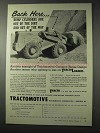 1958 Tractomotive Tractoloader Ad - Back Here