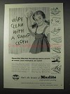 1958 Marlite Paneling Ad - Wipe Clean With a Damp Cloth
