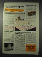 1958 Anaconda Copper Tube Ad - Plumbing and Heating