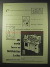 1958 Colchester Lathe Ad - The World Turns On
