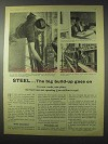 1958 British Iron and Steel Federation Ad - Build-Up