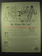 1958 Imperial Chemicals Industries Advertisement - The Things They Say