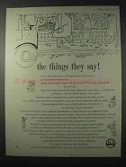 1958 Imperial Chemicals Industries Advertisement - Things They Say