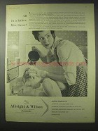 1958 Albright & Wilson Chemicals Ad - All in a Lather