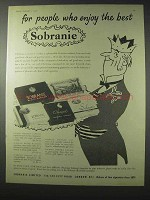 1958 Sobranie Cigarettes Ad - People Who Enjoy Best