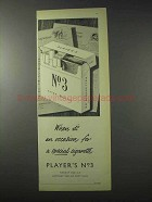 1958 Player's No. 3 Cigarettes Ad - It's An Occasion