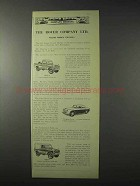 1958 Rover Ad - Series II Long Land Rover Truck Cab +