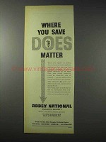 1958 Abbey National Building Society Ad - Does Matter
