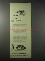 1958 Abbey National Building Society Ad - Look Future