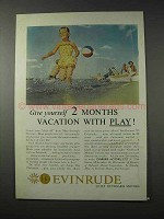 1958 Evinrude Outboard Motor Ad - 2 Months Vacation