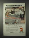 1958 AC Hot Tip Spark Plugs Ad - Special Delivery