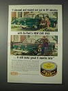 1958 Du Pont New Car Wax Ad - Waxed in 67 Minutes