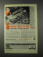 1958 Dremel Moto-Shop Tool Ad - 5 Power Tools In One