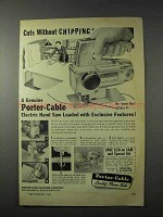 1958 Porter-Cable 152 Hand Saw Ad - Without Chipping
